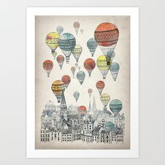 Voyages over Edinburgh Art Print by David Fleck - $18.00