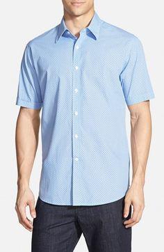Men's James Campbell 'Remini Geo Print' Regular Fit Short Sleeve Sport Shirt
