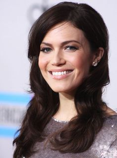 Mandy Moore Long, Wavy, Tousled, Brunette Hairstyle
