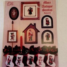 More Antique Santas Cross Stitch Designing Women Unlimited  #DesigningWomenUnltd