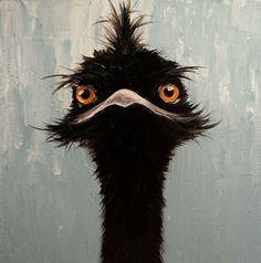 Elizabeth Barrett Original Oil Painting Bird Emu | eBay