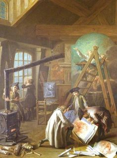 Interior of an Artist's Studio  by Etienne Jeaurat, 1755