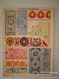 Buy the book Slovak ornamentation. Classifieds - Books, Other books. Folk Embroidery, Embroidery Patterns, Pattern Art, Pattern Design, Polish Folk Art, Folk Art Flowers, Stoff Design, Russian Folk Art, Scandinavian Folk Art