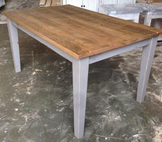 Etsy Reclaimed, Salvaged , Solid Wood, Dining Table, Vintage, Rustic, Shabby Chic,