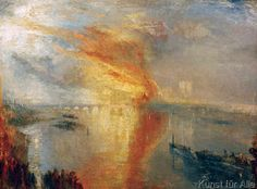 Joseph Mallord William Turner The Burning of the Houses of Parliament painting, oil on canvas & frame; Joseph Mallord William Turner The Burning of the Houses of Parliament is shipped worldwide, 60 days money back guarantee. Joseph Mallord William Turner, Turner Painting, English Romantic, Cleveland Museum Of Art, Cleveland Ohio, Oil Painting Reproductions, Art For Art Sake, Renoir, Monet