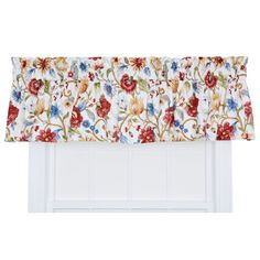 "Cornwall 80"" Jacobean Floral Tailored Valance"