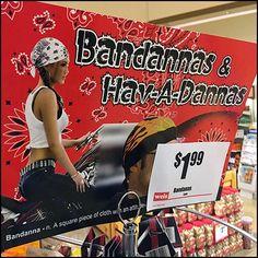 Have-An-Attitude Bandana Pole Display Rack – Fixtures Close Up Retail Merchandising, Bandana, Attitude, Gym, Display, Bandanas, Floor Space, Retail, Billboard