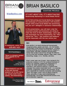 speaker bio one sheet template keynote templates one pager