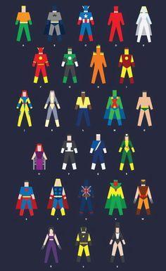 Alfabeto de Super heroes
