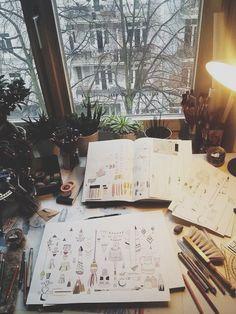 art, plants, light