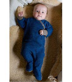 Baby Overall mit Fuß von Engel, 100% Wolle, 2 Farben