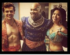 Ainsley Melham, Michael James Scott and Hiba Elchikhe - Aladdin Musical Melbourne