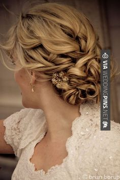 Wedding hairstyle - love this hair | CHECK OUT MORE GREAT WEDDING HAIRSTYLES AND WEDDING HAIRSTYLE IDEAS AT WEDDINGPINS.NET | #weddings #hair #weddinghair #weddinghairstyles #hairstyles #events #forweddings #iloveweddings #romance #beauty #planners #fashion #weddingphotos #weddingpictures