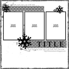 3 pic 1 page layout Scrapbook Layout Sketches, Scrapbook Templates, Scrapbook Designs, Card Sketches, Scrapbooking Layouts, Scrapbook Cards, Picture Scrapbook, Scrapbook Photos, Christmas Scrapbook Pages