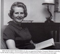 Margaret Thatcher - 1968 - Tough one, I am not a Conservative but I cannot help but admire this lady.