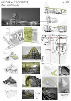 Case Study of Heydar Aliyev Center by Zaha Hadid Architects Case Study of Heydar Aliyev Center by . Poster Architecture, Concept Board Architecture, Plans Architecture, Architecture Presentation Board, Landscape Architecture Drawing, Islamic Architecture, Sustainable Architecture, Architectural Presentation, Architecture Design
