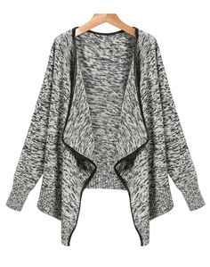 Shop Grey Long Sleeve Trim Cardigan Sweater online. Sheinside offers Grey Long Sleeve Trim Cardigan Sweater & more to fit your fashionable needs. Free Shipping Worldwide!