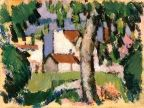 Houses in Trees - John Duncan Fergusson - The Athenaeum