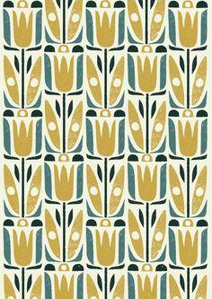 Vegetal pattern by Debbie Powell via The Artworks