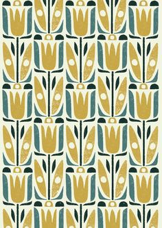 Vegetal pattern by Debbie Powell via The Artworks