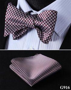 22e018f0a4fd Check Dot Floral Paisley Men Woven Silk Wedding Self Bowtie handkerchief  Set #G9. Silk Bow TiesBow Tie ...