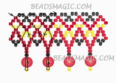 Free pattern for beaded necklace Rowanberry | Beads Magic