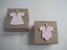 30 Onesie abito favore Baby Shower box chevron polka dot