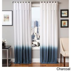 Softline Cotton and Linen Curtain Panel (54X96 Charcoal), Grey, Size 54 x 96