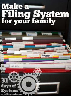 How to Make a Filing System  #pullingcurls