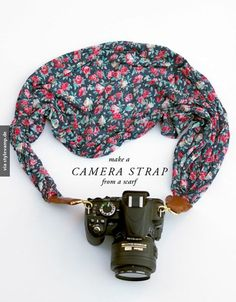 diy camera strap- I know a few people who might like something like this...