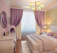 интерьер спальни в стиле прованс Purple Bedrooms, Girls Bedroom, Bedroom Decor, Decor Interior Design, Interior Decorating, My Room, House Design, Living Room, Furniture