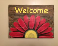 Artículos similares a Reza sueño trabajo imaginar risa, plataforma muestra, muestra colorido, de madera, Shabby Chic, plataforma arte, madera reciclada en Etsy