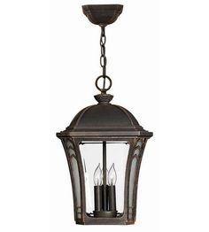 Hinkley Lighting Wabash 3 Light Outdoor Hanging Lantern in Mocha 1332MO