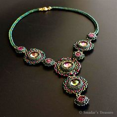 Tropical Nights - Beadwoven Necklace - EBWC | Flickr : partage de photos !