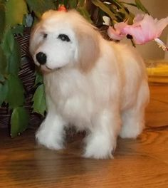Needle Felted handcrafted Great Pyrenees