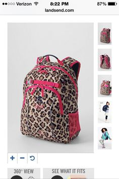 8caa15a0754e Cool backpack from Lands End! Girl Backpacks