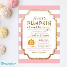 Pink little pumpkin girl baby shower invitations diy printable princess baby shower invitation pink and gold baby shower invitation gold glitter invitation girl baby shower printable invitation filmwisefo