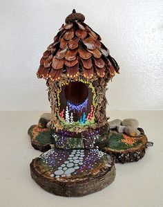 this one is just like beckys!!! We gotta make it hers was sooo cool!! how to: fairy house