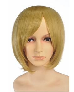 Xabing Short Blonde Wig Cosplay at nextwigs.com