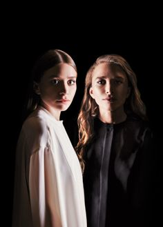Ashley and Mary-Kate for WWD (someone liking the good ol' photoshop a bit too much here in my opinion)