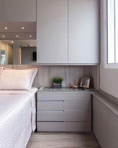 Apartamento Sob Medida Ambientta Arquitetura is part of Apartment bedroom design - Bedroom Furniture Design, Cozy Bedroom Design, Home, Bedroom Cupboard Designs, Bedroom Cupboards, Wardrobe Design Bedroom, Small Bedroom, Creative Bedroom, Apartment Bedroom Design