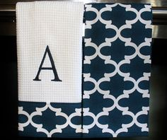 Monogram Kitchen Towels or Hand Towels in Dusty by DesignsByThem