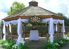 simple decorations for a gazebo wedding | of course now the question is how do i decorate it i could use tulle