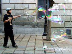 Street performer in Barcelona, Spain