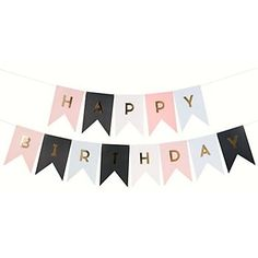Decorations for Adult or Girls birthday or Teen - Gold Foil Letter Banner (($))