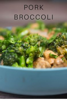 pork broccoli - An easy stir fry with pork, broccoli, and a simple sauce. Low carb and keto friendly dinner.chopping the broccoli into small florets, Diced Pork Recipes, Easy Dinner Recipes Pork, Pork Broccoli, Pork Stir Fry, Fried Pork, Cooking Recipes, Diet Recipes, Low Carb, Lunch Ideas