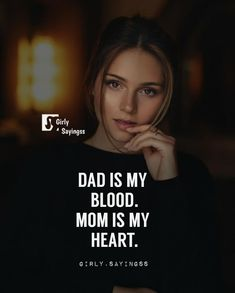 And I will break their legs who will hurt my heart and say anything about my blood Love My Parents Quotes, Mom And Dad Quotes, Daughter Love Quotes, Crazy Girl Quotes, Family Quotes, Life Quotes Pictures, Real Life Quotes, Reality Quotes, Badass Quotes