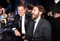 Matt Damon and Casey Affleck Affleck Brothers, Ben And Casey Affleck, Ben Casey, Matt Damon, Film Awards, Academy Awards, The Expendables, Boy Pictures, Jason Statham