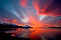 Il tramonto ad #Höfn #Islanda #Iceland