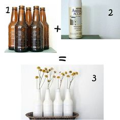 Vase en bouteille de bière... ...